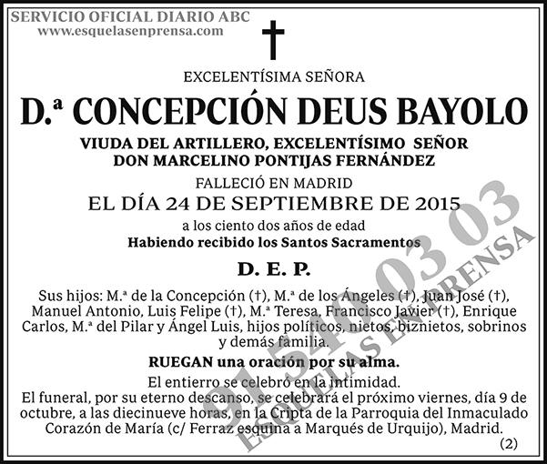 Concepción Deus Bayolo